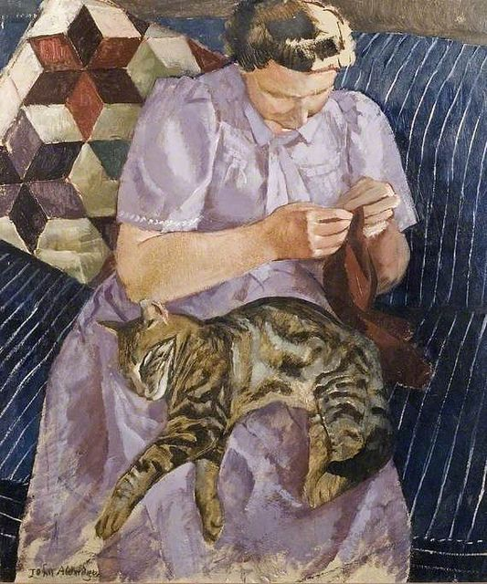 Lady with a Cat, John Aldridge
