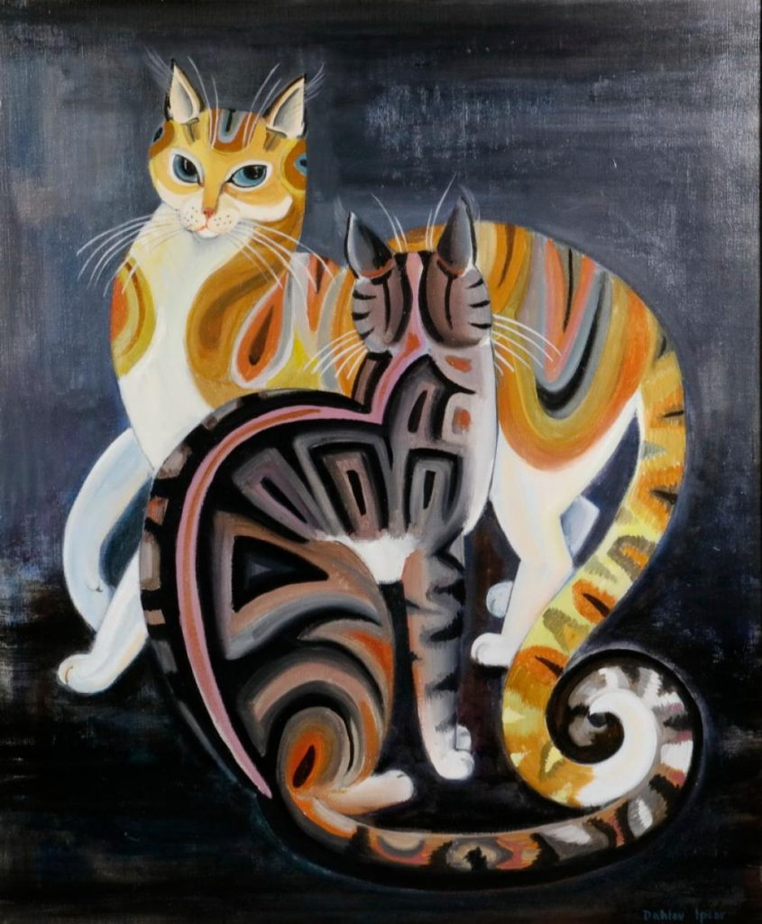 Two Tabby Cats in fine art