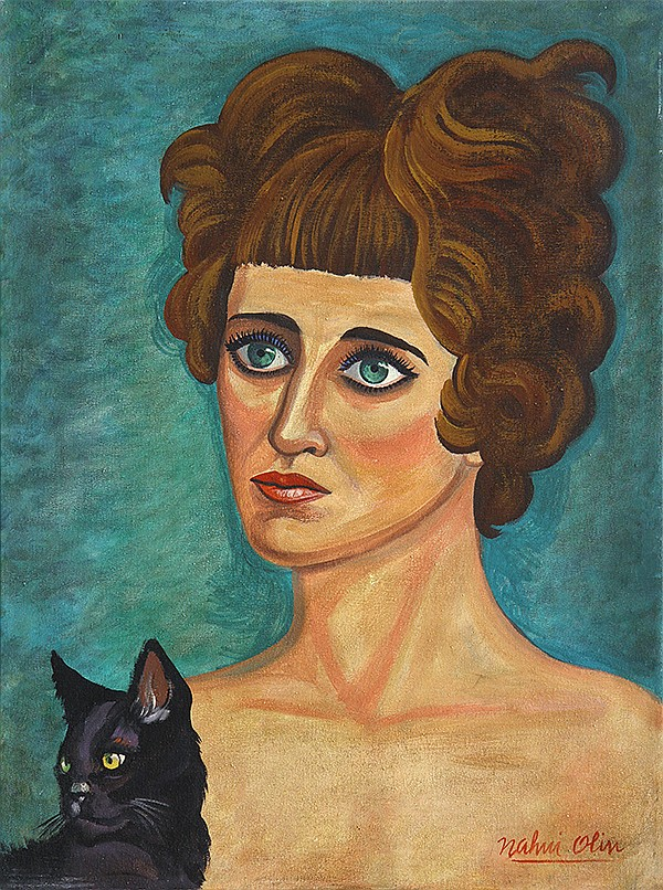 Carmen Mondragon, Nahui Olin Self Portrait with Black Cat