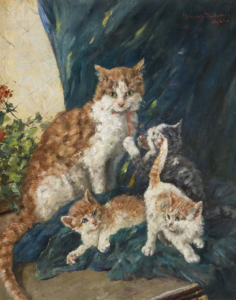 Mother Cat and Kittens, Clementine Nielssen