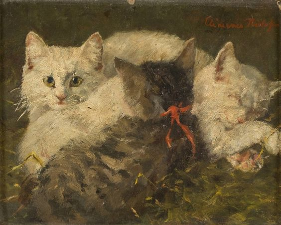 Three Young Cats, Clementine Nielssen