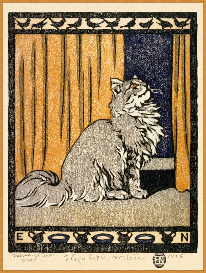 Elizabeth Norton, Little Grey Tabby Cat, 1926
