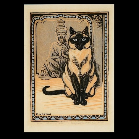 Siamese Cat and Buddha, Elizabeth Norton