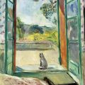 Camoin, Charles (French, 1879-1965) - My Cat before an open window
