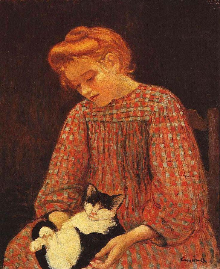 Camoin, Charles - Girl with Cat, 1904