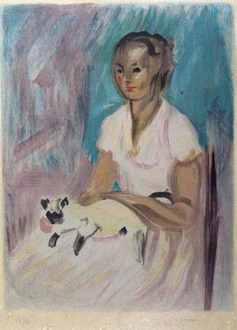 Charles Camoin, Jeune fille avec chat