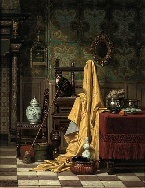 Charles Joseph Grips A Domestic Interior, 1881.
