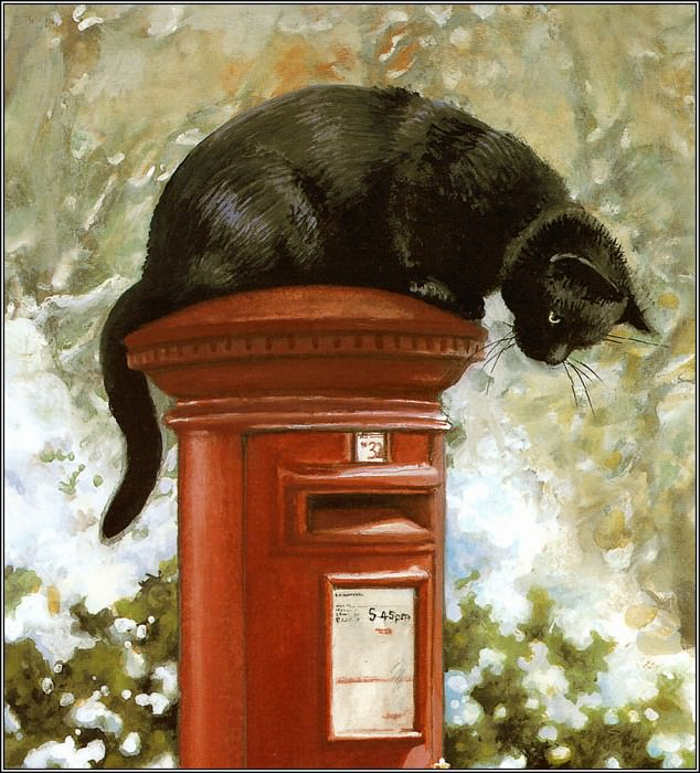 Chrissie Snelling, Cat on a Mailbox
