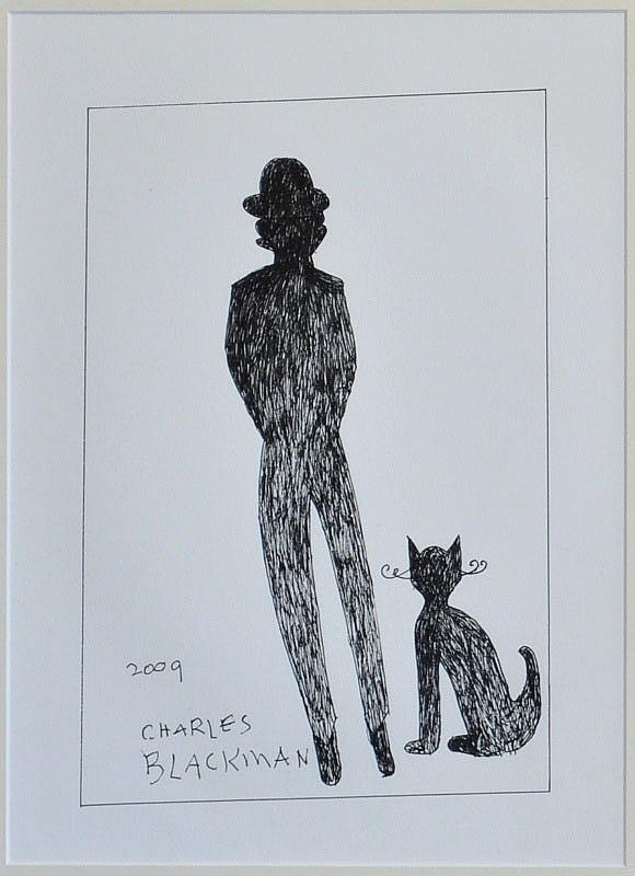 1 School Boy and CAt 2009, Charles Blackman