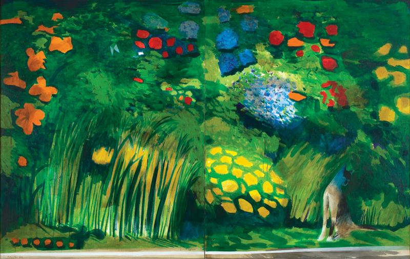 7 The White Cat's Garden 1969, Charles Blackman