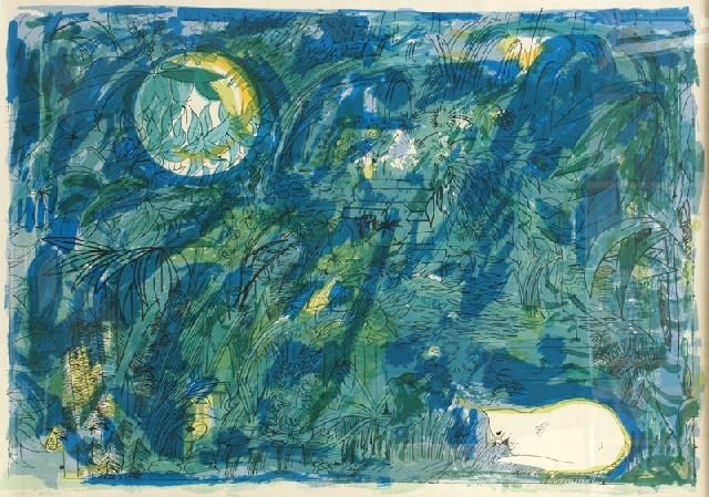 8 The White Cat's Garden II, Charles Blackman