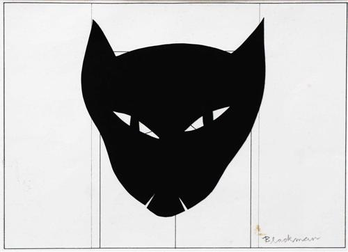 Black Cat Face, Charles Raymond Blackman