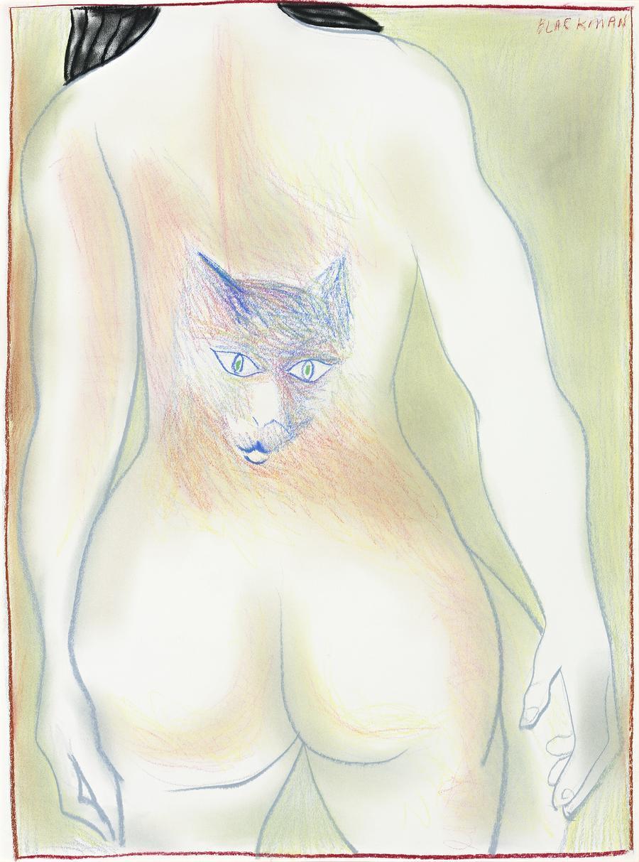 Cat Woman, Charles R. Blackman
