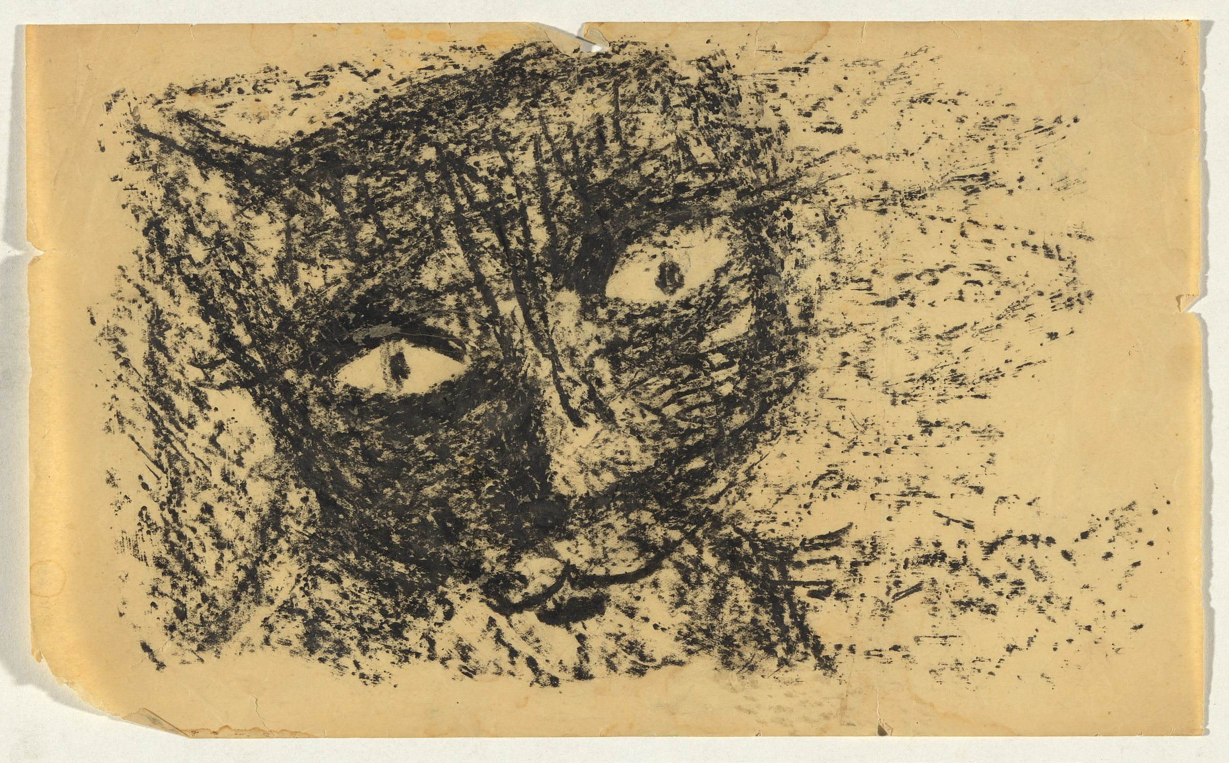 Cat's Face, Charles Blackman