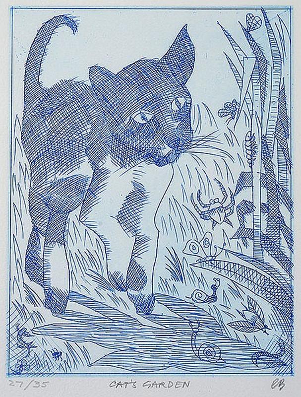 Cat's Garden, Charles Blackman