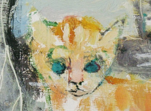 Francis Chapin, Two Cats, detail