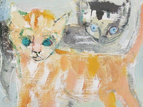 Francis Chapin, Two Cats