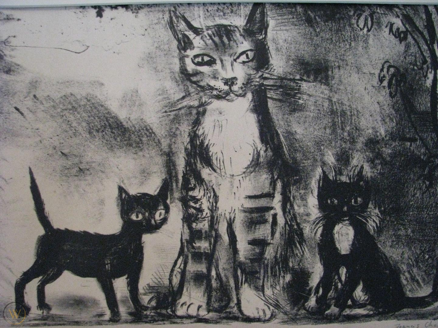 Mother Cat and Two Kittens, Francis Chapin