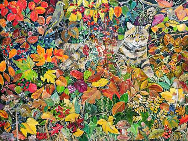 Tabby in Autumn, HIilary Jones