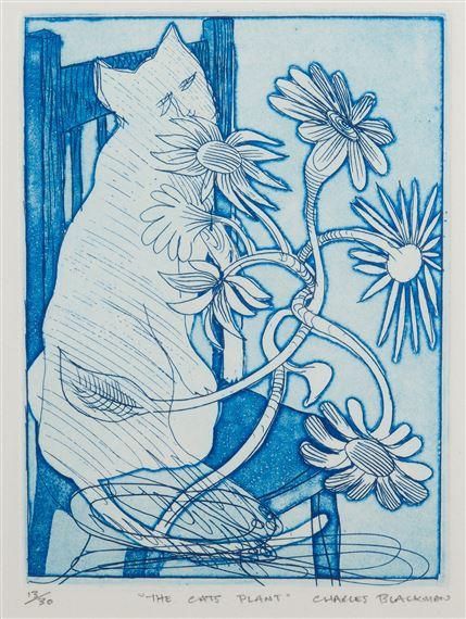 The Cat's Plant, Charles Blackman