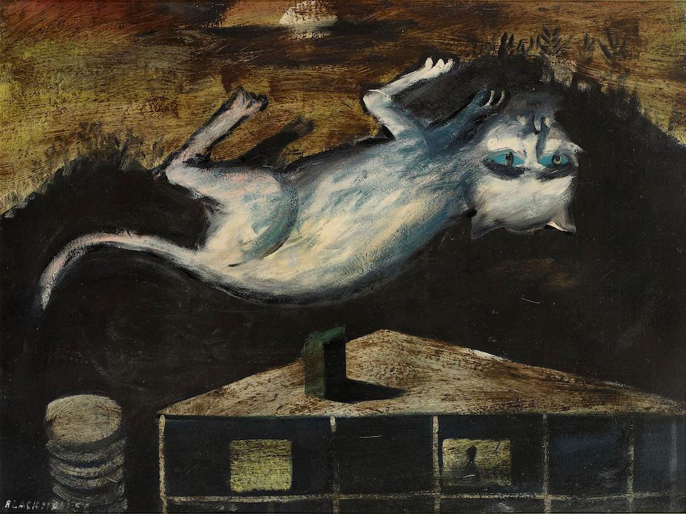 Upside Down Cat, Charles Blackman