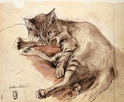 Cat, 1979, Horst Janssen