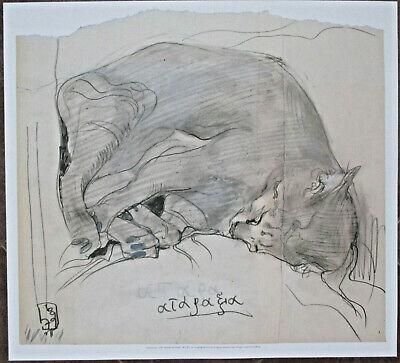 Horst Janssen, Cat Etching