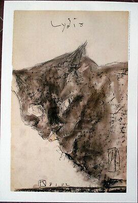 Horst Janssen, Cat Looking