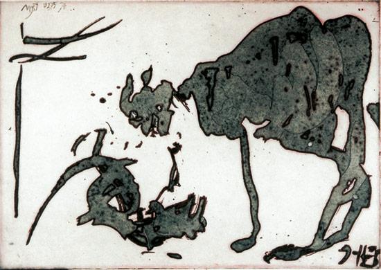 Horst Janssen, Katze und Ratte