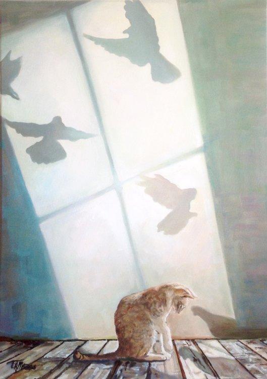 Timothy Matthews cat art