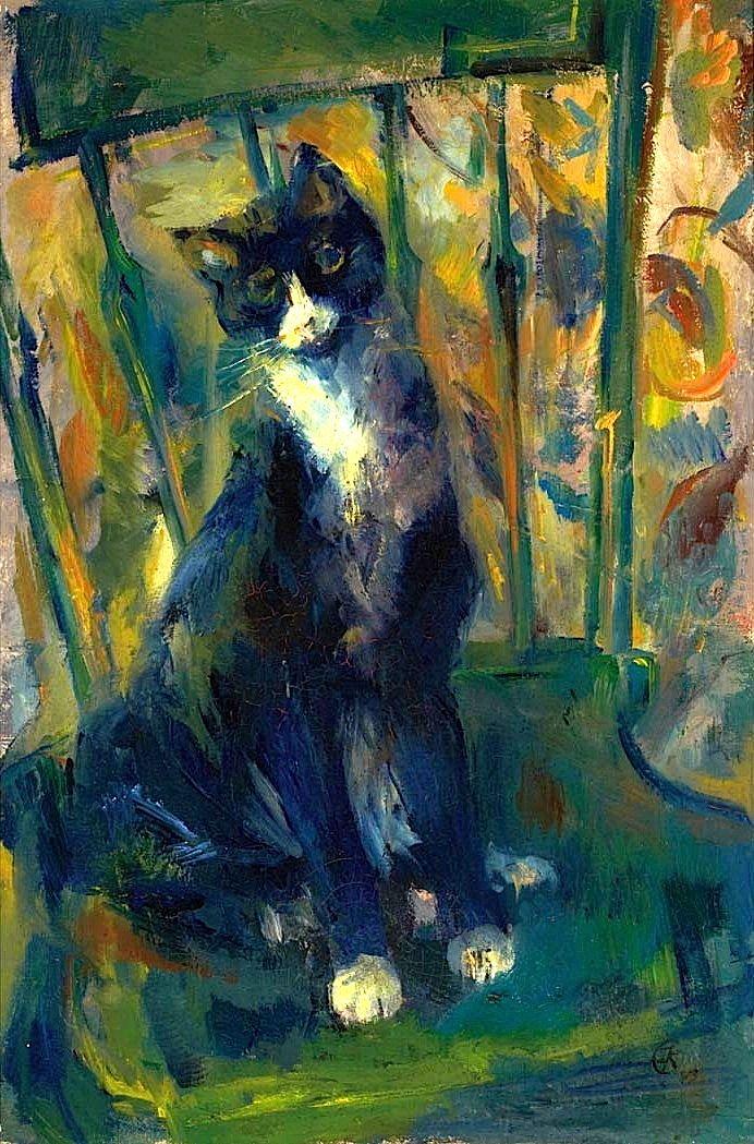 Cat on a Chair, Franz Kline