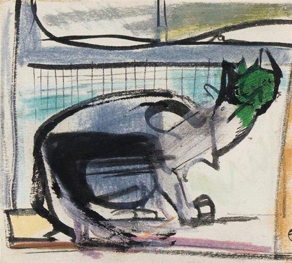Franz Kline – CAT, Circa 1947