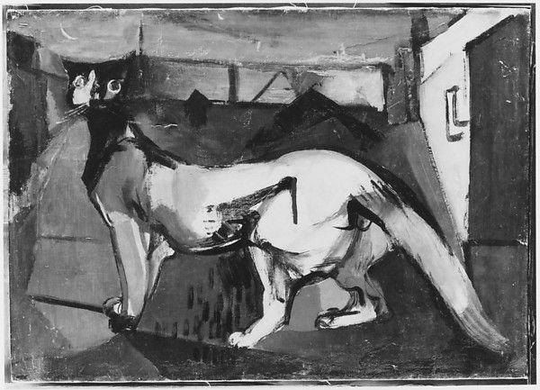 Franz Kline – Kitzker, ca.1946, Oil on canvas